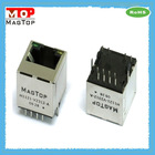 10/100Base-TX Single Port Vertical 180 RJ45 mini uUSB Connector