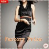 ladies V-collar sleeveless chiffon fashion dresses evening 2012 factory wholesale