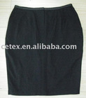 Hot selling fashionable office ladies' woolen skirt, style no. ramollo long