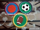 Soft PVC coaster Rubber coaster pvc round coasters pvc drink mat pvc drink coaster pvc cup coaster basketball football Rugby