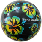 pantone code silk print pattern EN71 and AZO free machine-sctiched promotion volleyball ball