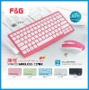 Scissors structure Chocolate keys colorful wireless keyboard and mouse combo