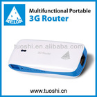 ADSL router wireless data sharing 3g router 3g wireless router 5200mAh battery Support most of the 3G models