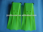 Silicone swimming fins diving flippers