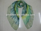 2012 hottest Gradient color Lady's polyester scarf wholesale