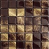 glass mosaic golden and brown color