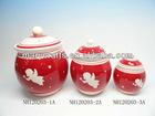 Ceramic christmas gift cookie jar