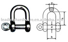 Stainless steel jis dee shackle(rigging hardware)