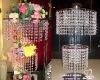beaded chandelier-wedding center piece