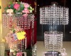 beaded chandelier-wedding center piece