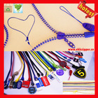 2013 New trend best factory quality custom zipper lanyard