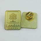 B496 rectangle metal pin badge
