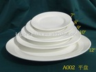 Round Strengthened Porcelain Plate
