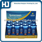 Sunscreen paper display box can be folding