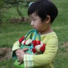 Set of 2 colorful shiny PP woven children bag