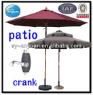polyester umbrellas with thick cover and crank open strong frame