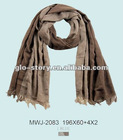 Men's winter soft cotton scarf with shell tassel