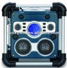 blue backlit LCD display shockproof and waterproof radio