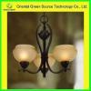 Black wrought iron pendant chandelier for bedroom