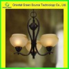 Black wrought iron pendant chandelier for bedroom