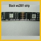 Black board 5m led digital strip,DC5V input,WS2801IC(256 scale);32pcs IC and 32pcs 5050 SMD RGB full color