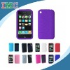 Purple Textured Silicone Skin Soft Cover Case for Apple iPhone 3G 3GS (IMC-TOIPH-0263)