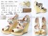 2012 lady fashion wedge sandal