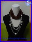2012 new design pendant pearl jewelry scarves