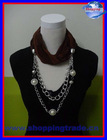 2012 new design pendant pearl jewelry scarves