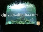 Cylinder aquarium of acrylic fish tank