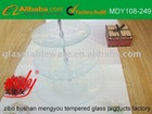 3 tiers Clear tempered glass serving plate
