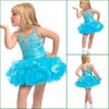 JF0091 Latest Mini Style Flower Girl Blue Little Girls Full Dress