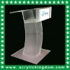 Acrylic floor host desk