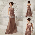 Fashionable Spaghetti Strap A-line Ruffles Floor Length Flower Mother of Bride Dresses xyy04-201