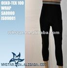 Elastic waistband long pants running tight for men