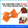 orange Cat Adjustable Collar Bowtie Pet Dog Necktie Bow Tie