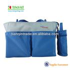 Blue microfiber baby diaper bag
