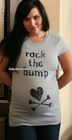 Rock the Bump Grey Short Sleeve Maternity Tee
