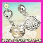 925 Sterling Silver Shell Pearl Charms Dangle Pendant Wholesale