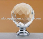 brass and crystal cabinet knob KNAAC11