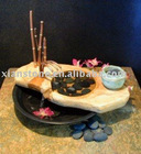 Stone table top water fountains