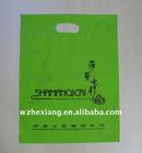 Green Clear Die Cut handle LDPE printed plastic bag