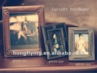 pu leather photo frame flap stand style with colorful cardboard pen holder traditional photo frame for 4 pics