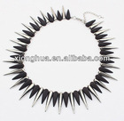 metal studs punk the series metal fashion necklace (black+Silver)