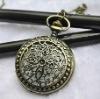 Fashion 2012 Newest Necklace Pocket Watch, Quartz Movement, FD47003, 47 x 47mm Archaize Antique Bronze Pocket Watch