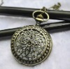 Fashion 2012 Newest Necklace Pocket Watch, Quartz Movement, FD47003, 47 x 47mm Archaize Antique Bronze Pocket Watch