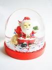 acrylic snow globe insert Christmas Santa Clause