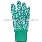 dotted cotton jersey gardening gloves