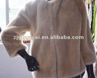 faux rabbit fur coat