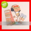 Varied Fashion Knitted hat scarf glove Suit knitted sets